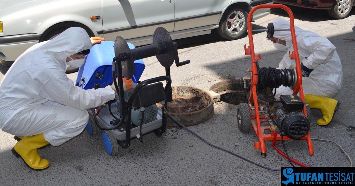 makineyle kanal açma ve tesisat yıkama